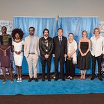 Cody Simpson And Juanes Help Kick Off World Humanitarian Day