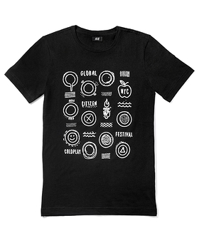 2015 Global Citizen Festival Shirt designed by Chris Martin of Coldplay
