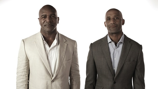 Evander Holyfield and Brian Custer