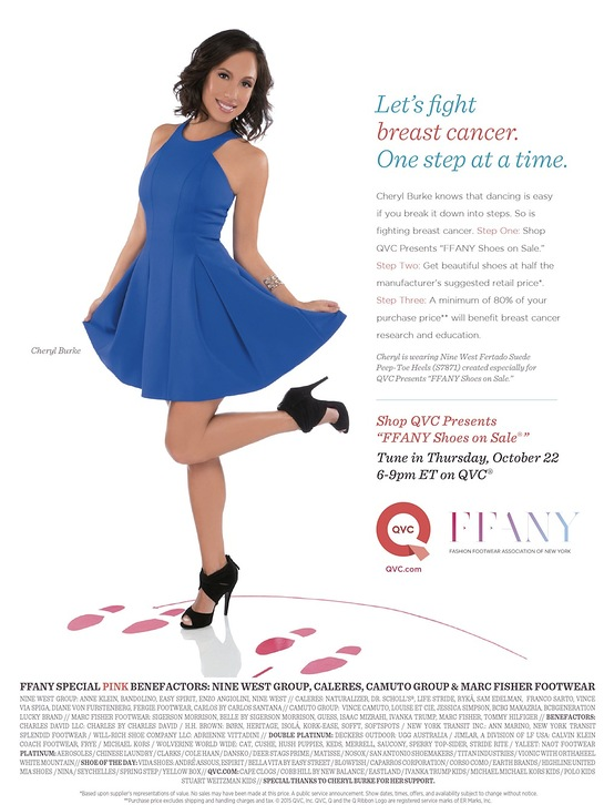 Cheryl Burke Joins FFANY Shoes on Sale