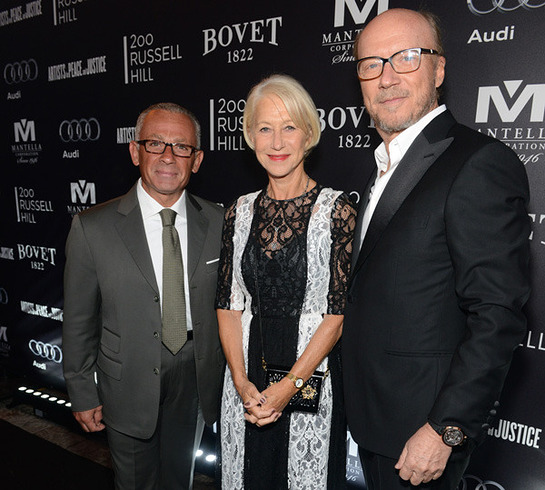 Pascal Raffy with Dame Helen Mirren and APJ Founder Paul Haggis
