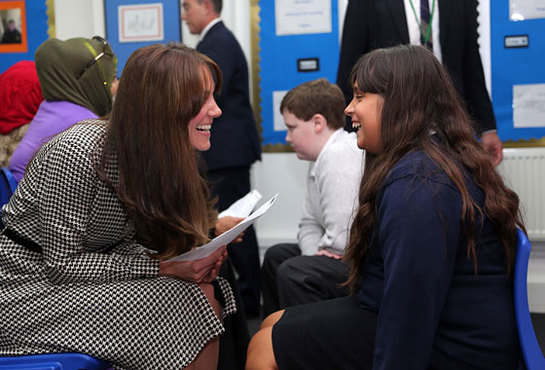 Duchess of Cambridge meets children benefitting from the work of the Anna Freud Centre