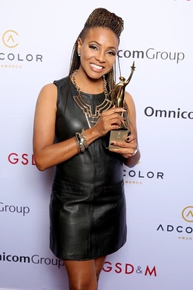 MC Lyte at the ADCOLOR Awards