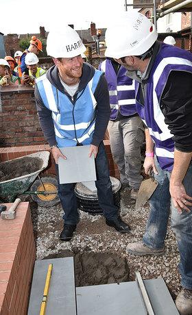 Prince Harry takes part in DIY SOS The Big Build: Veteran's Special