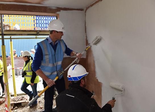 Prince William takes part in DIY SOS The Big Build: Veteran's Special