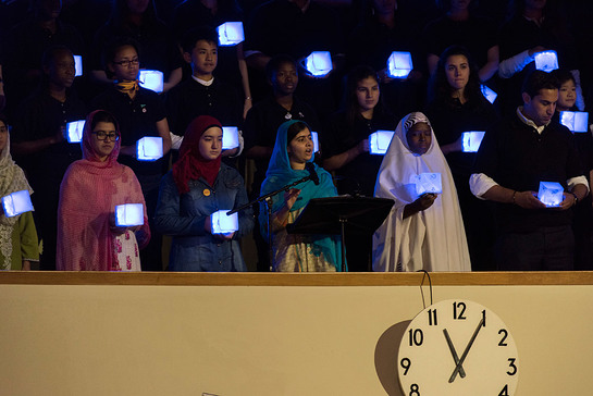 Malala Yousafzai addresses the General Assembly during the opening day of the UN Sustainable Development Summit
