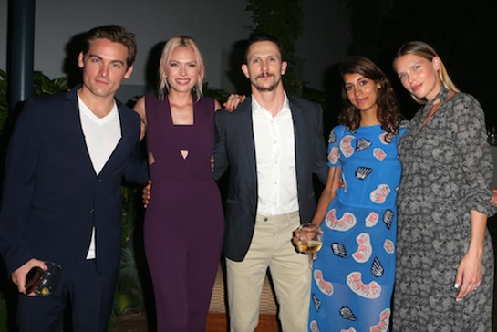 Kevin Zegers, Erin Foster, Jonathan Tucker and his wife, and Sara Foster