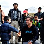 Orlando Bloom Meets Refugees In Republic Of Macedonia