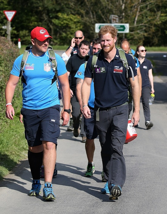 Prince Harry joins the Walking with the Wounded's Walk of Britain