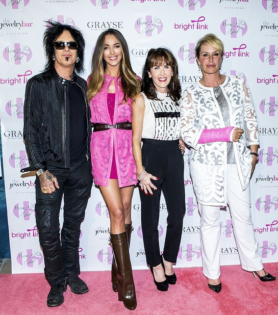 Nikki Sixx, Robin McGraw, Courtney Sixx and Grayse CEO Kelly Gray