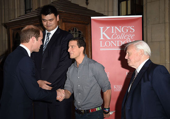 Prince William With Yao Ming, Bear Grylls and Sir David Attenborough