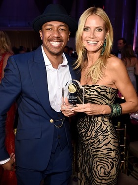 Nick Cannon and Heidi Klum