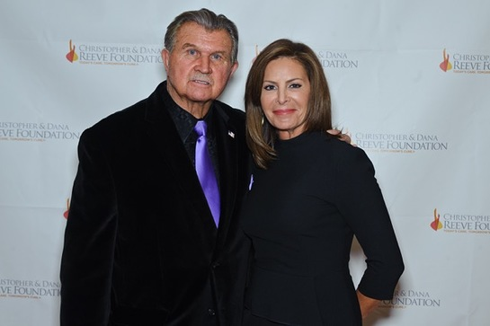 Kathy Brock with Mike Ditka