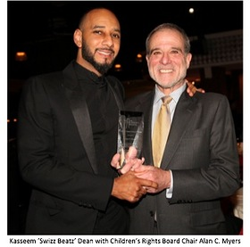 Swizz Beatz With Children's Rights Board Chair Alan C. Myers