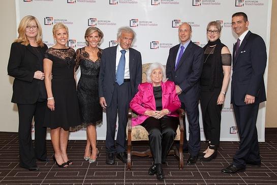 Bonnie Hunt, Karen Andrews, Kathy Giusti, Prof. Elie Wiesel, Marion Wiesel, Elisha Wiesel, Lynn Bartner-Wiesel & Walter Capone