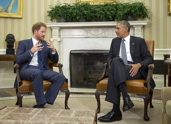 Prince Harry and President Obama