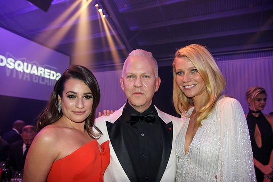Lea Michele, Ryan Murphy and Gwyneth Paltrow