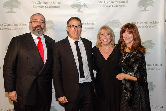 Gary Zahakos, David O. Russell, and Kristiane Lambert with Glenholme Executive Director Maryann Campbell
