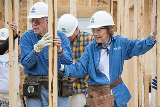 President and Mrs. Carter helped build a home with Habitat for Humanity in Memphis, Tennessee