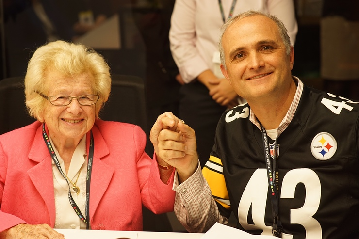 Dr. Ruth and Bloomberg Tradebook CEO Glenn Lesko